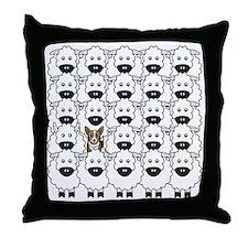 Corgi in the Sheep Throw Pillow