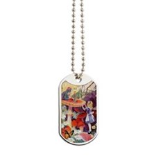 Alice and the caterpillar_10x14 Dog Tags