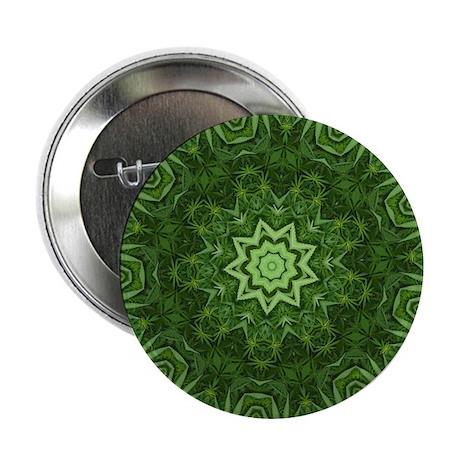 Marijuana Leaf Kaleidoscope Button