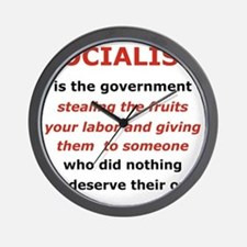 2-SOCIALISM IS THE GOVERNMENT STEALING. Wall Clock