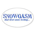 Snowgasm Oval Sticker
