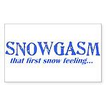 Snowgasm Rectangle Sticker