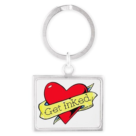 Get Inked heart Landscape Keychain