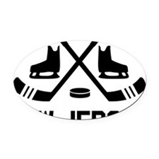New Jersey Hockey Oval Car Magnet