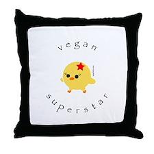 Vegan Superstar Throw Pillow