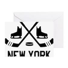 New York Hockey Greeting Card