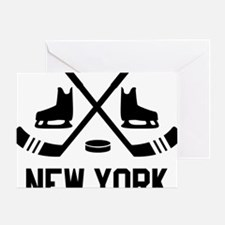 New York Hockey Greeting Card