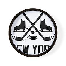 New York Hockey Wall Clock