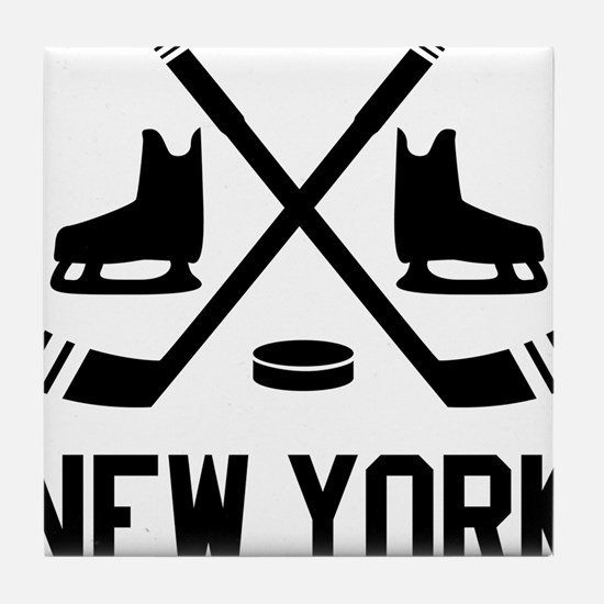 New York Hockey Tile Coaster