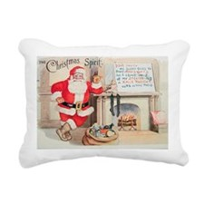 Vintage Christmas Spirit Rectangular Canvas Pillow