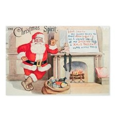 Vintage Christmas Spirit Postcards (Package of 8)