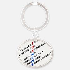 pol12W Oval Keychain
