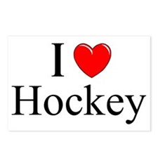 """I Love (Heart) Hockey"" Postcards (Package of 8)"
