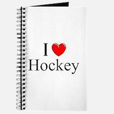"""""""I Love (Heart) Hockey"""" Journal"""