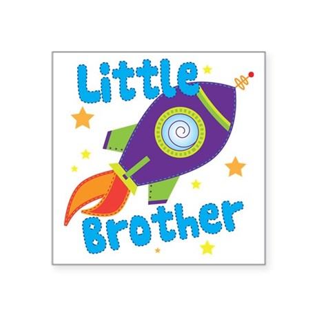 "littlebrotherrocket Square Sticker 3"" x 3"""