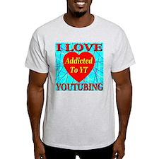 I Love YouTubing Ash Grey T-Shirt