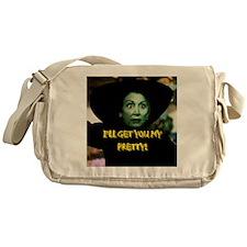 I'LL GET YOU MY PRETTY(button) Messenger Bag