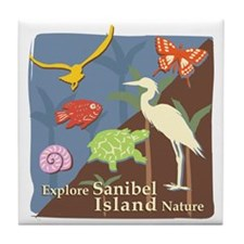 Sanibel_Nature Tile Coaster