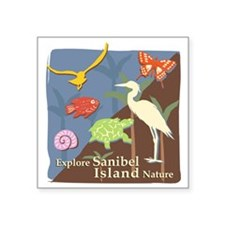 "Sanibel_Nature Square Sticker 3"" x 3"""