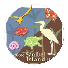 Sanibel_Nature Round Car Magnet