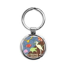 Sanibel_Nature Round Keychain