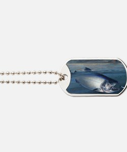 Early bite salmon Dog Tags