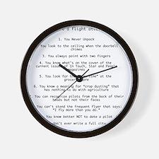 FlightList Wall Clock
