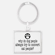 Dog People Landscape Keychain