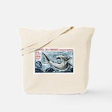 1965 Comoros Islands Hammerhead Shark Stamp Tote B