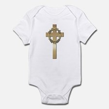 Gold Cross w/Crown Infant Bodysuit