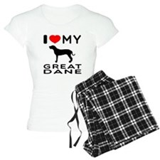 I Love My Great Dane Pajamas