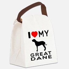I Love My Great Dane Canvas Lunch Bag