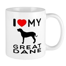 I Love My Great Dane Mug
