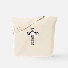 Solid Rock Black Tote Bag