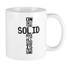 Solid Rock Black Mugs