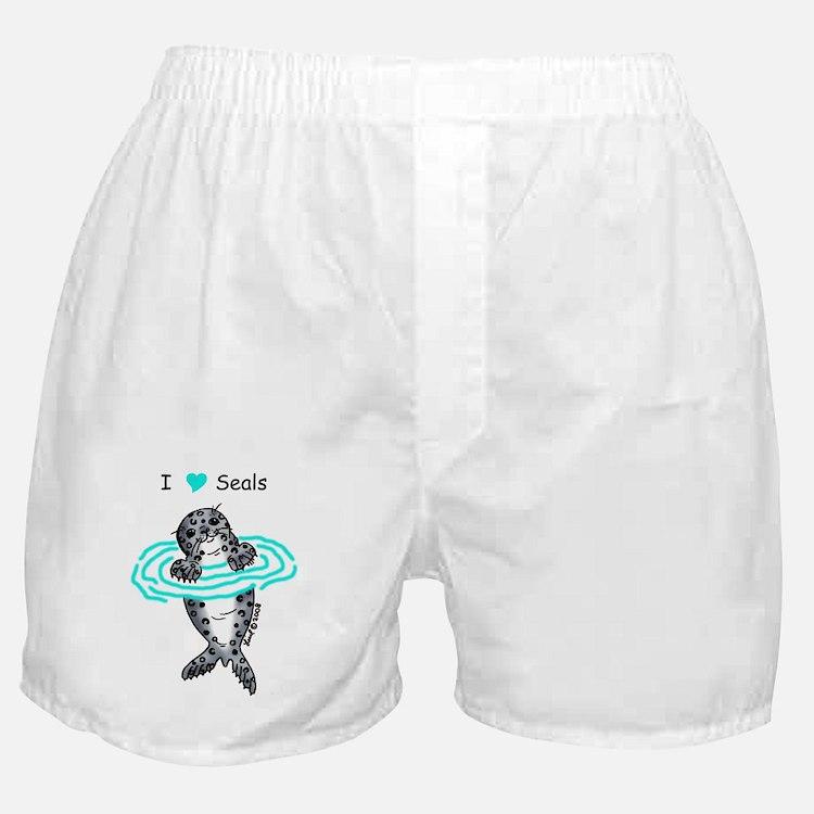 i love seals Boxer Shorts