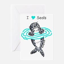 i love seals Greeting Card