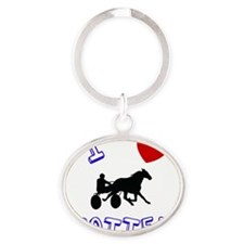 trotter Oval Keychain