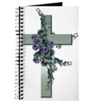 Green Cross w/Purple Flower's Journal