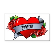 Boricua Rectangle Car Magnet