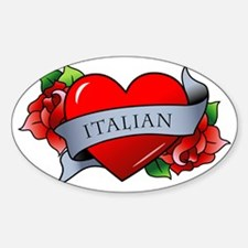 Italian Sticker (Oval)