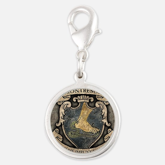 MONTRESOR-COAT-OF-ARMS_13-5x18 Silver Round Charm