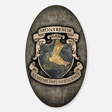 MONTRESOR-COAT-OF-ARMS_j Sticker (Oval)