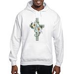 Green Cross w/Daisies Hooded Sweatshirt