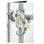 Green Cross w/Daisies Journal
