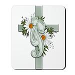 Green Cross w/Daisies Mousepad