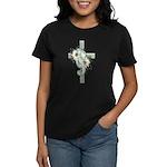 Green Cross w/Daisies Women's Dark T-Shirt