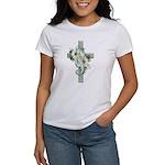 Green Cross w/Daisies Women's T-Shirt