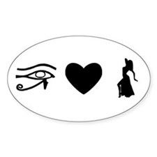 I love bellydance Oval Decal
