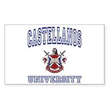CASTELLANOS University Rectangle Decal